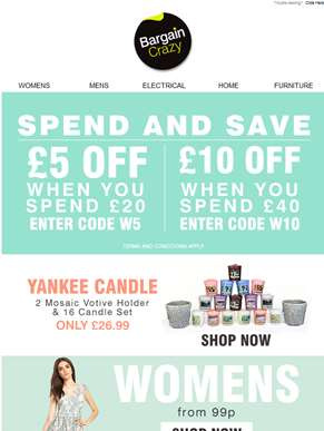 Get £10 Off When You Spend £40!