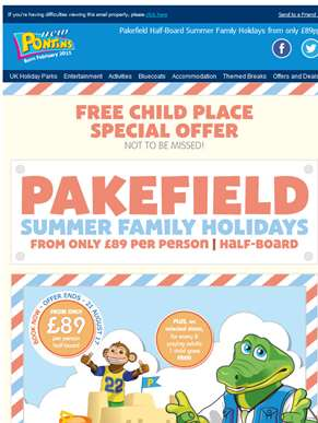 Pakefield Summer Family Holidays | Half-Board Breaks from only £89 per person