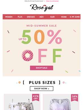 Breaking Right Now! Great 50% Off
