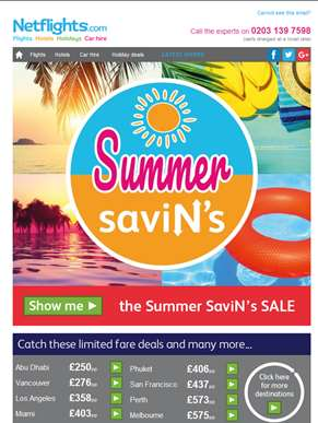 The Summer SaviN's Sale is here - Huge holiday discounts