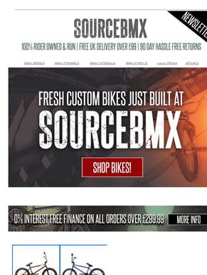 Get yourself a fresh custom build at SourceBMX