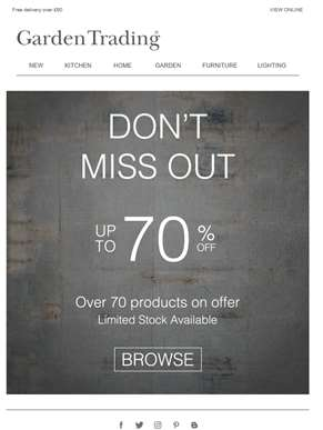 Don't Miss Out - Up to 70% off