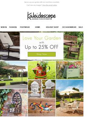 Love Your Garden... With Up 25% Off!