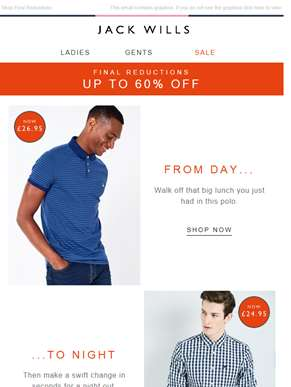 Time for a quick outfit change | 60% off Sale