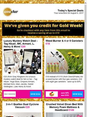 HURRY! These Gold Week deals end at midnight!
