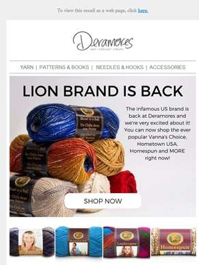 IT'S BACK! Lion Brand & Caron Cakes Available Now