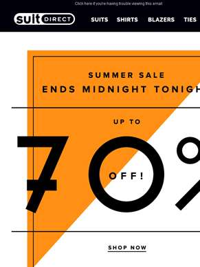 Last Chance - Summer Sale Ends Midnight Tonight