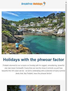 Holidays with the Phwoar factor