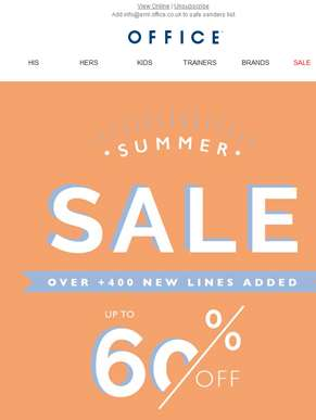 Move over Monday. Summer Sale is here.