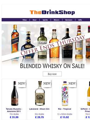 All Blended Whisky On Special Offer!