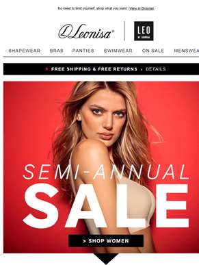 Up to 60% OFF! Semi-Annual Sale