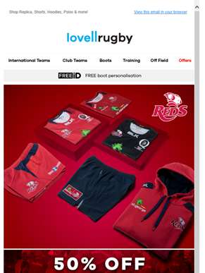 ??? FLASH SALE - 50% OFF Queensland Reds Rugby Collection!