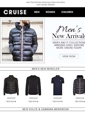 New Moncler, Fendi, Dolce & Gabbana And More...