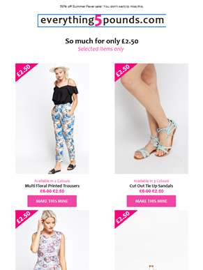 Summer just got hot again ?? fabulous £2.50 collection is here