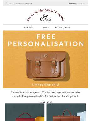 Free personalisation - this week only!