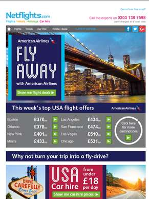 ? FLY AWAY with American Airlines