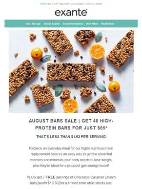 ?? 40 High-Protein Bars for Just $65 ??