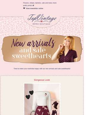New arrivals and sale sweethearts ?