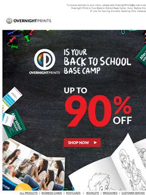 Saved by the Sale! Enjoy up to 90% off for Back to School!