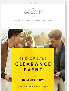Great Clearance Offers From Menswear