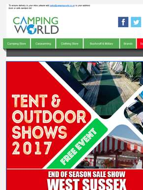 West Sussex Tent & Outdoor End of Season Sale Show