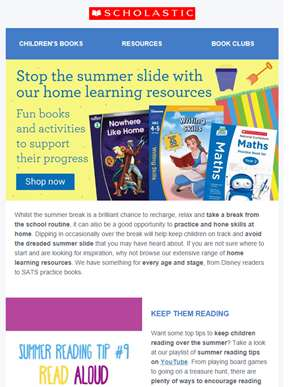 Stop the summer slide with our home learning resources