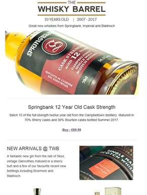 Great new whiskies from Springbank, Bowmore and Bladnoch