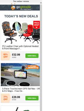 PRICE DROP! Leather Massage Office Chairs from £52.99 | Sat Nav inc Delivery £29.99 | 12pc Stainless