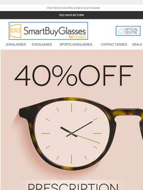 Don't miss out! 2 hours left ? 40% OFF Prescription Lenses
