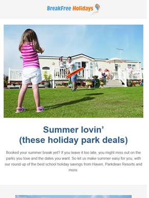 Summer lovin' (these holiday park deals)
