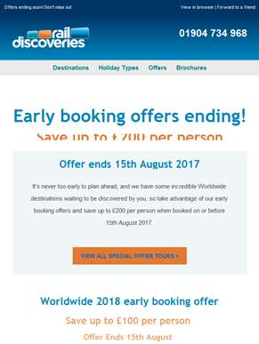 Early Booking Offer Ending Soon!
