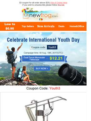 $3 coupon for International Youth Day