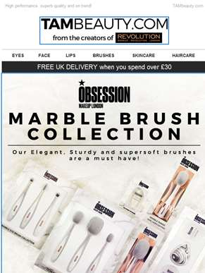 NEW Obsession by Revolution - Brush Collections