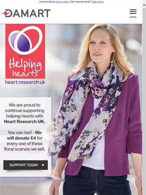 Damart supports Heart Research UK