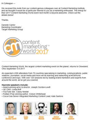 Join 4,000+ content marketing experts and brand leaders next month