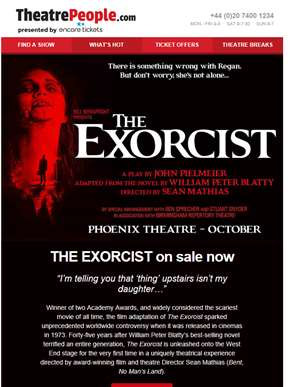 THE EXORCIST on sale now