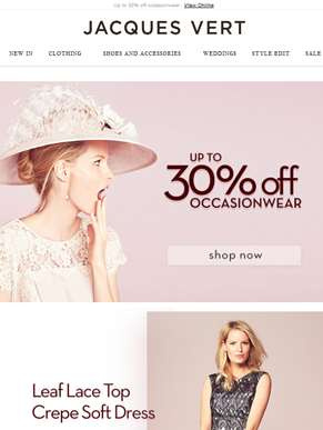Summer-Ready Occasionwear With Up To 30% Off