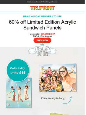 60% off limited edition Acrylic Panels