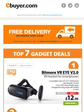 Hi  - VR Headset for Smartphones - Only £12.99 Delivered