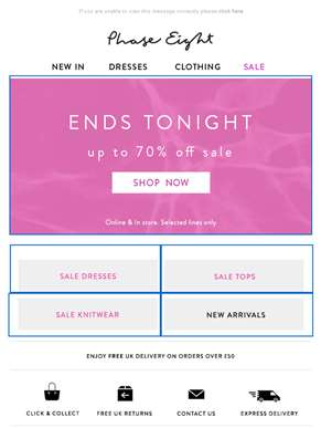 Ends tonight: Up to 70% off sale