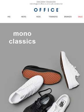 Keep it classic with mono trainers