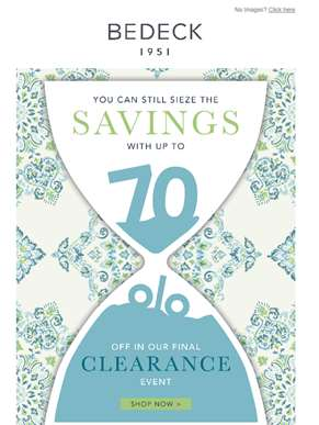 Clearance Event Ends Tonight