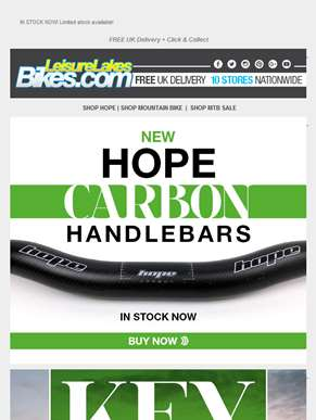 NEW - Hope Carbon Bars - in stock now! ??