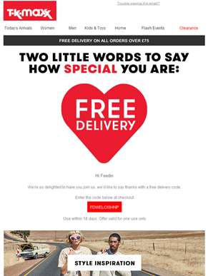 FREE DELIVERY for Feedin! Lucky you….