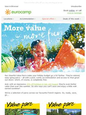 Save even more with our value parcs offer