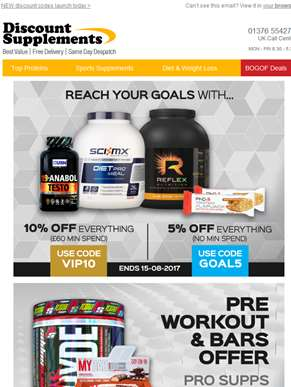 Extreme pre-workout offer + all-in-one BOGOF