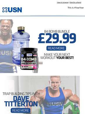 Performance Supplements from USN - Unlocking your Potential!