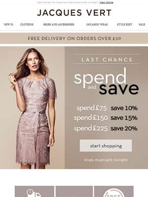 Last Chance! Our Spend and Save event ends midnight