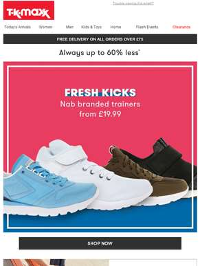 Nab branded trainers from £19.99...