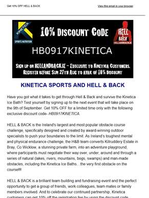 GET 10% OFF HELL & BACK